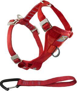 Kurgo Red Dog Harness Tru Fit with Seat Belt Attachment Qual