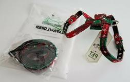 Expawlorer Red Green Plaid Christmas Cat Dog Harness with Ma
