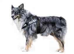 PUPTECK Reflective Big Dog Harness Adjustable with Handle Ou