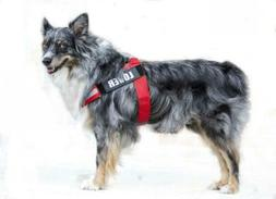 PUPTECK Reflective Big Dog Harness Adjustable with M , Red