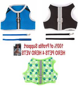 Top Paw Reflective Comfort Harness Vest & Leash Cute Boy Dog