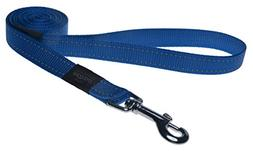 "Reflective Dog Leash for Extra Large Dogs, 1"" wide, 6' long,"
