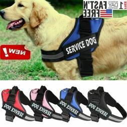 Reflective Service Pet Dog Training Vest Dog Harness Padded