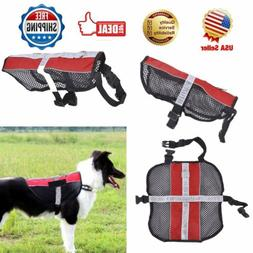 REFLECTIVE SERVICE DOG PUPPY HARNESS VEST MESH PET HARNESS C