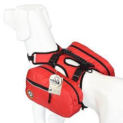 Saddle Bag Backpack for Large Dog, Detachable Pack Instantly