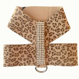SALE! Micro Suede Crystal Dog Harness - Leopard