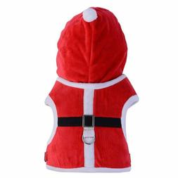 PUPTECK Santa Christmas Small Dog Harness w/Hood - Small Bre