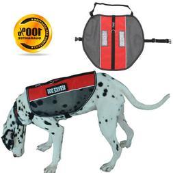 Service Dog Harness Jacket Cool Vest with 2 Removable Reflec