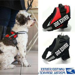 Adjustable Service Dog Harness Vest Patches Reflective Small