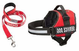 SERVICE DOG Vest Harness & Matching Leash Set, by Industrial