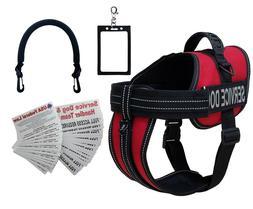 ActiveDogs Service Dog Vest Harness + Free Clip-on Bridge Ha