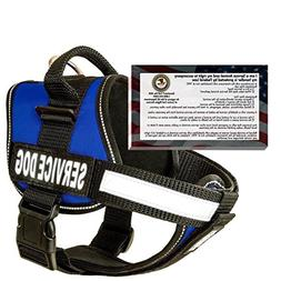 barkOutfitters Service Dog Vest Harness + 50 ADA Info Cards