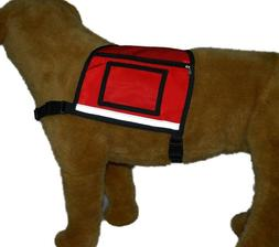 Service Dog Vest with 2 ID Badge holders and 2 Zipper Pocket