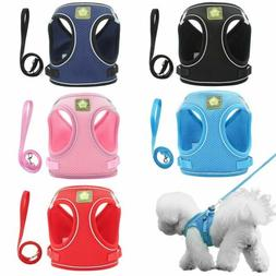 Small Dog Breathable Mesh harness Vest Collar soft chest str