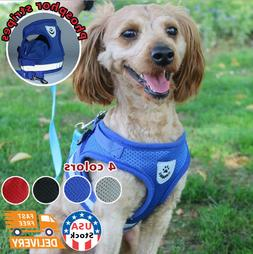 Small Dog Harness Breathable Mesh And Leash Set - Vest Chest