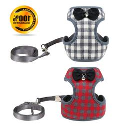 Small Dog Harness Leash Set Adjustable Pet Vest Harness for