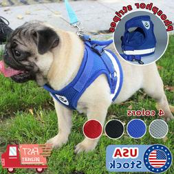 Small Dog mesh Vest harness Collar with Leash soft chest str