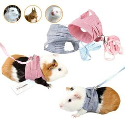 Small Pet Cat Dog Harness Leash Walk Lead For Guinea Pig Rab