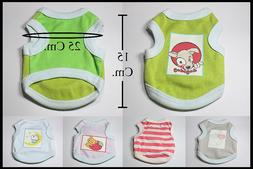 Small Pets Clothes Vest TShirt Dress harness Puppy Dog Cat L