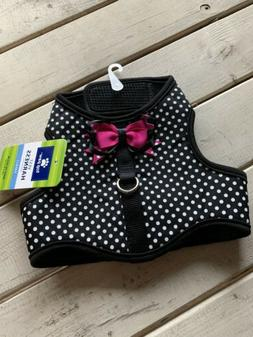 Small Top Paw Polka Dots Pink Bow Dog Puppy Harness
