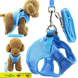 Soft Adjustable Mesh Dog Puppy Cat Pet Vest Harness and Leas