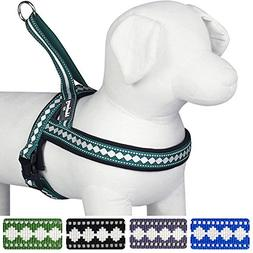 Blueberry Pet 7 Colors Soft & Comfy Jacquard Padded Dog Harn