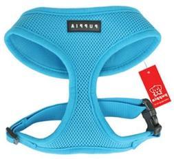 Puppia Soft Dog Harness  Aqua Blue Medium
