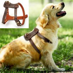 Soft Leather Dog Harness Heavy Duty Large Dog Harness Vest M