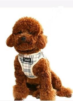 PUPTECK Soft Mesh Small Dog Harness Nova Check Padded Vest