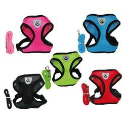 Soft Non-toxic Leash Seatbelt Mesh Vest Dog Harness Medium D