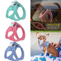 Soft Padded Dog Harness Reflective Pet Harness Cat Vest For
