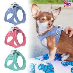 Soft Reflective Dog Harness Leash Pet Puppy Cat Vest Jacket