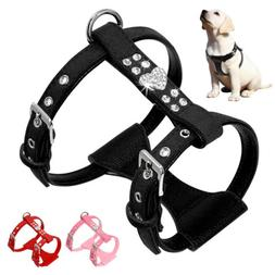 Soft Suede Leather Pet Dog Harness for Yorkie Poodle Beagle