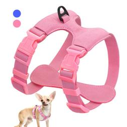 Suede Leather Small Puppy Dog Harness Soft Dog Collar Vest f