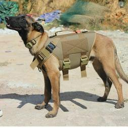 Tactical Dog Harness Soft Pad Water Resistant Coating Protec