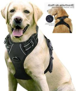 rabbitgoo Tactical Dog Harness Vest Large with Handle, Milit