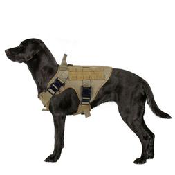 Rabbitgoo Tactical Dog Harness Vest Large with Handle Milita