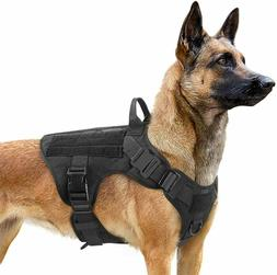 Rabbitgoo Tactical Dog Harness with Handle No-pull Large Mil