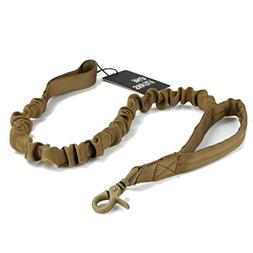 OneTigris Tactical Dog Training Bungee Leash with Control Ha