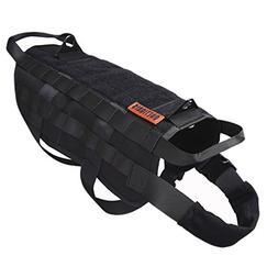 OneTigris Tactical Dog Training Molle Vest Harness Black, XL