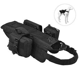 Petacc Tactical Dog Training Vest Harness Pet Hunting Pack V