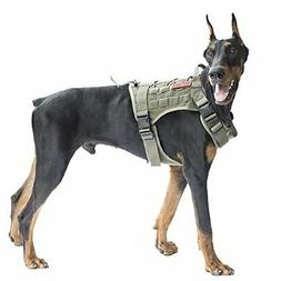 OneTigris Tactical Dog Vest Harness – Water-resistant Comf