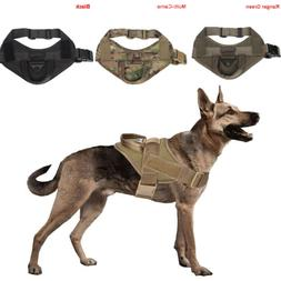 Tactical K9 Trainning Service Dog Harness Nylon Dog Vest wit