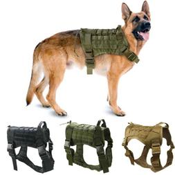Tactical Military Dog Harness Large Dogs Training Harness fo