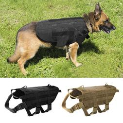 Tactical Military Molle Dog Vest Harness Pet Clothing Jacket