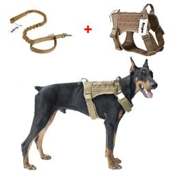Tactical Molle Chest Plate Dog harness Adjustable Puppy vest