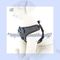 TopPaw Grey Black Blue Herringbone Vest Bow Tie Soft Dog Har