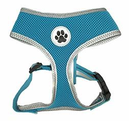 Turquoise Reflective Mesh Soft Dog Harness Safe Harness No P