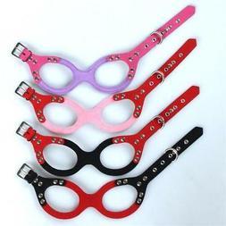 US Pet Dog Harness Glasses Shape Soft Durable Adjustable for