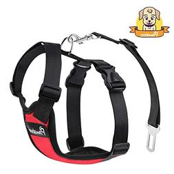 Uxcell Pet Dog Cat Harness Safety Strap Vest With Car Seat B
